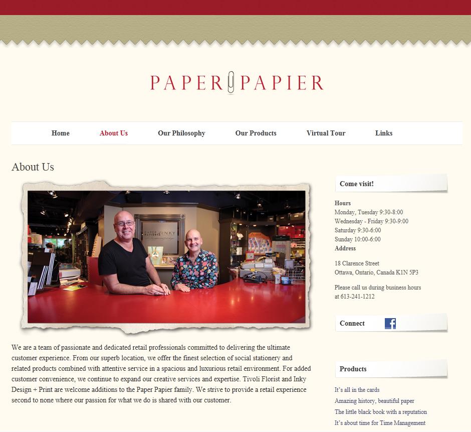 photoVanBeek Studio – Ottawa Commercial Photography Paper